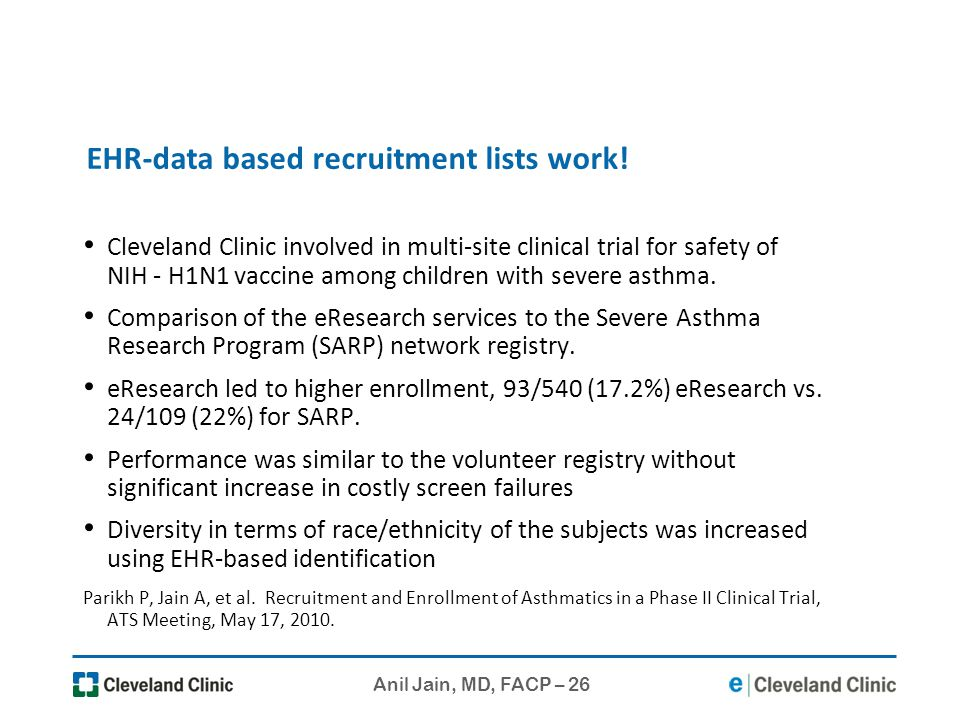 EHR-data based recruitment lists work!