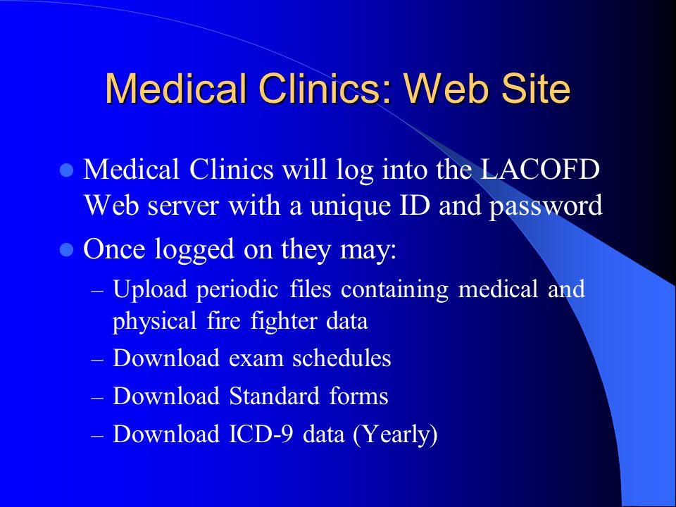 Medical Clinics: Web Site