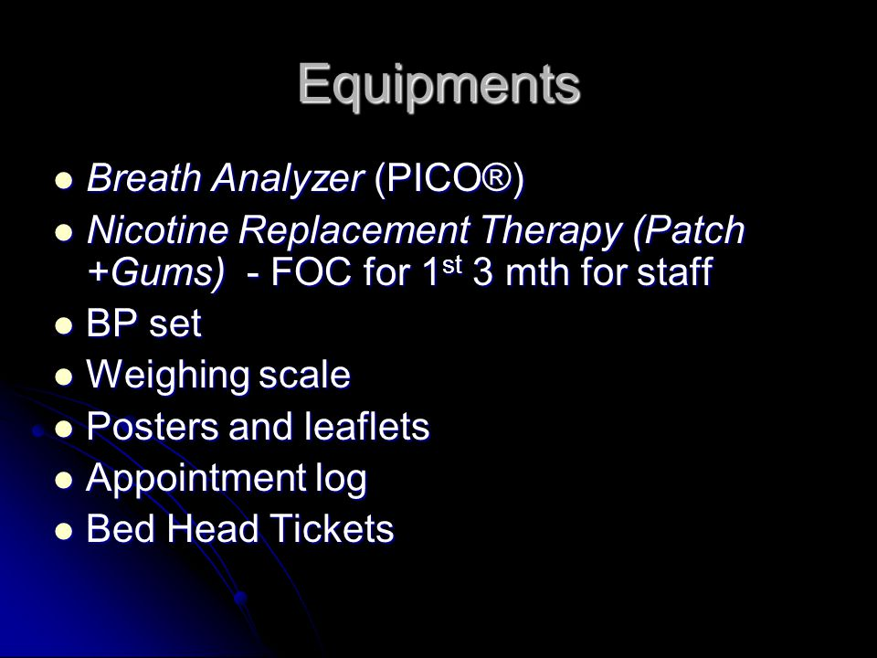 Equipments Breath Analyzer (PICO®)