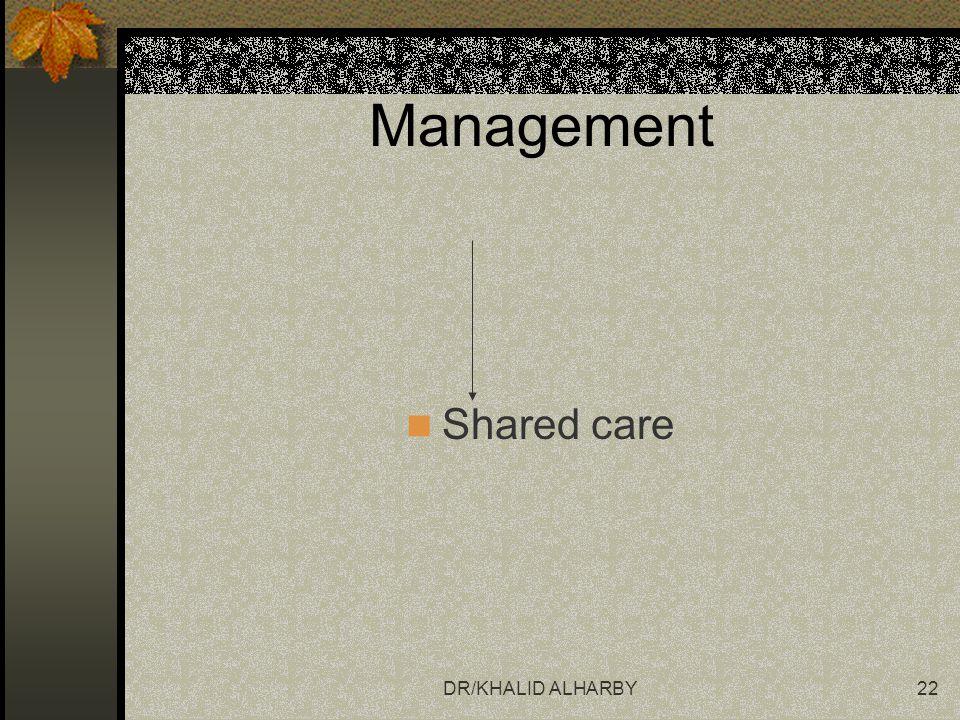 Management Shared care DR/KHALID ALHARBY