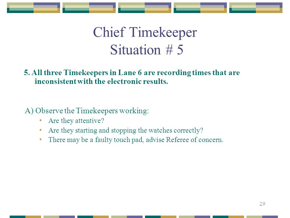 Chief Timekeeper Situation # 5