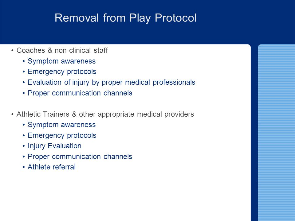 Removal from Play Protocol