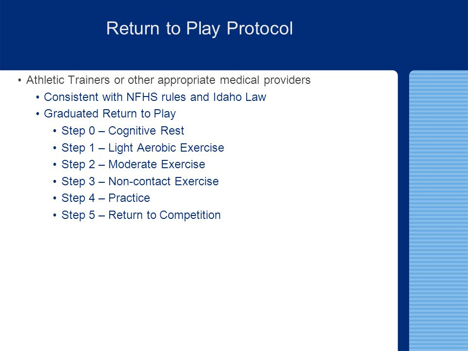 Return to Play Protocol