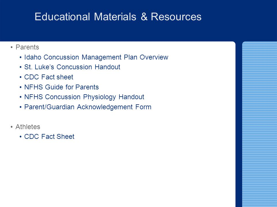 Educational Materials & Resources