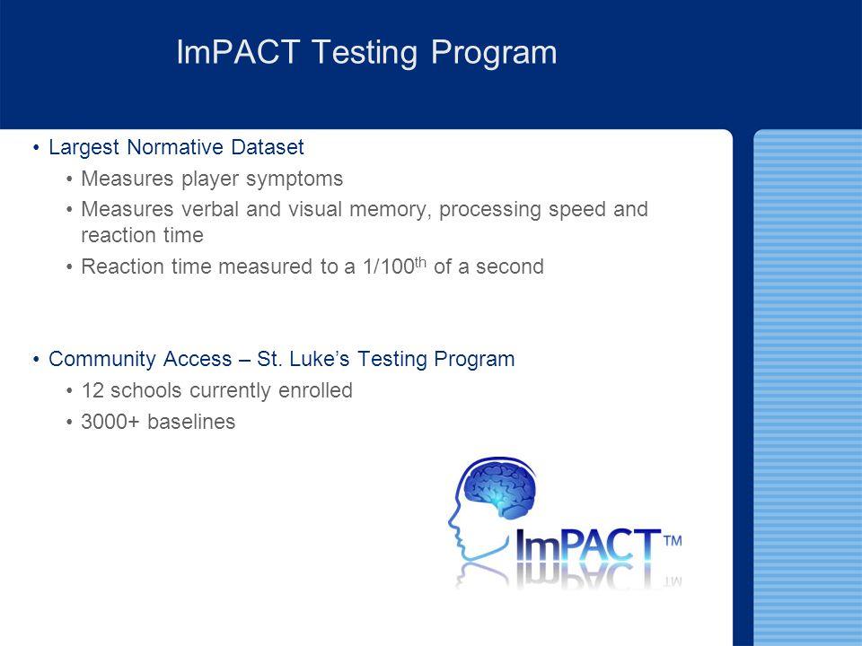 ImPACT Testing Program