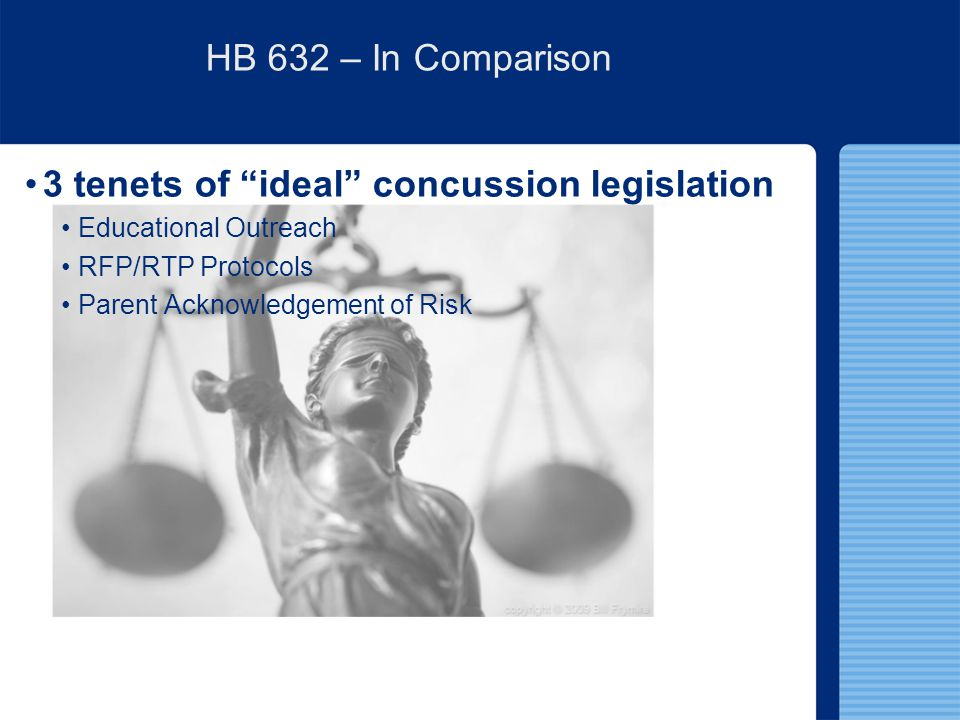 3 tenets of ideal concussion legislation