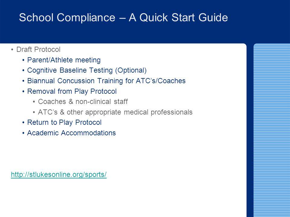 School Compliance – A Quick Start Guide