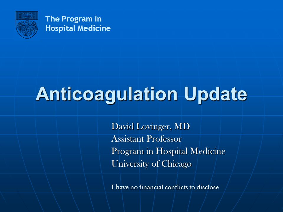 Anticoagulation Update
