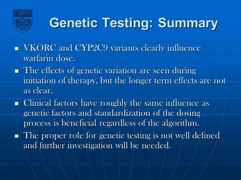 Genetic Testing: Summary