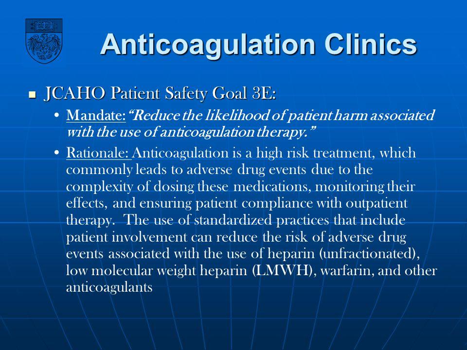 Anticoagulation Clinics