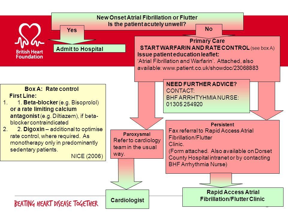 New Onset Atrial Fibrillation or Flutter