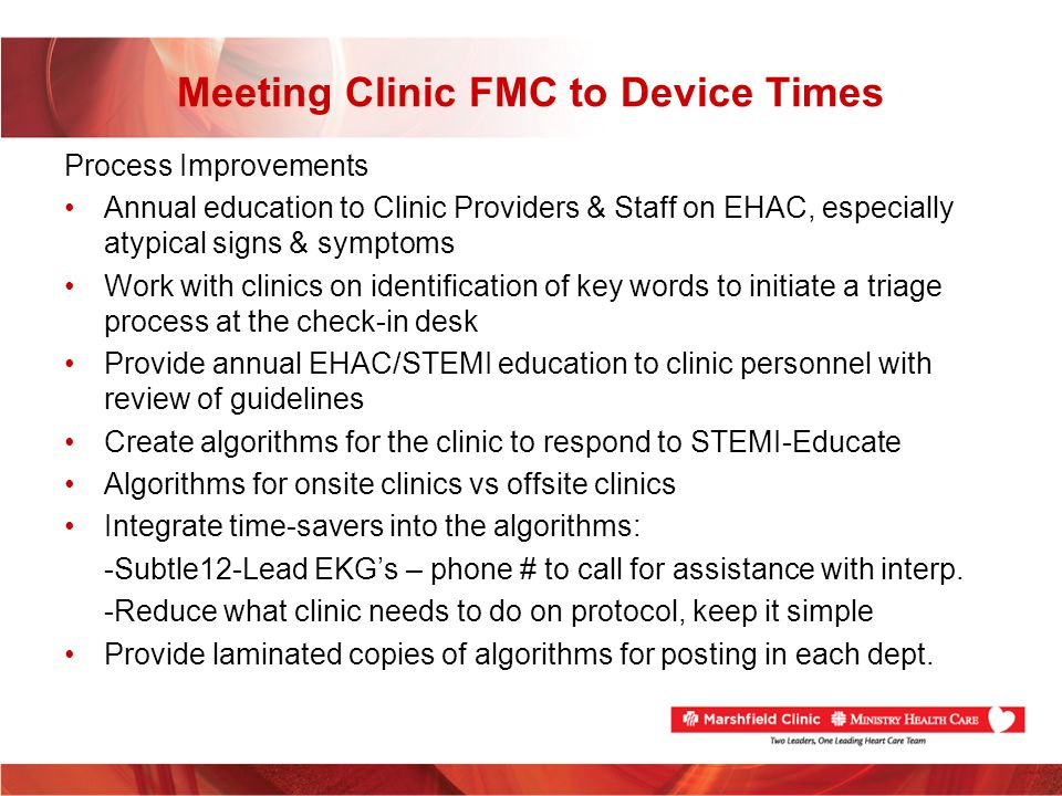 Meeting Clinic FMC to Device Times