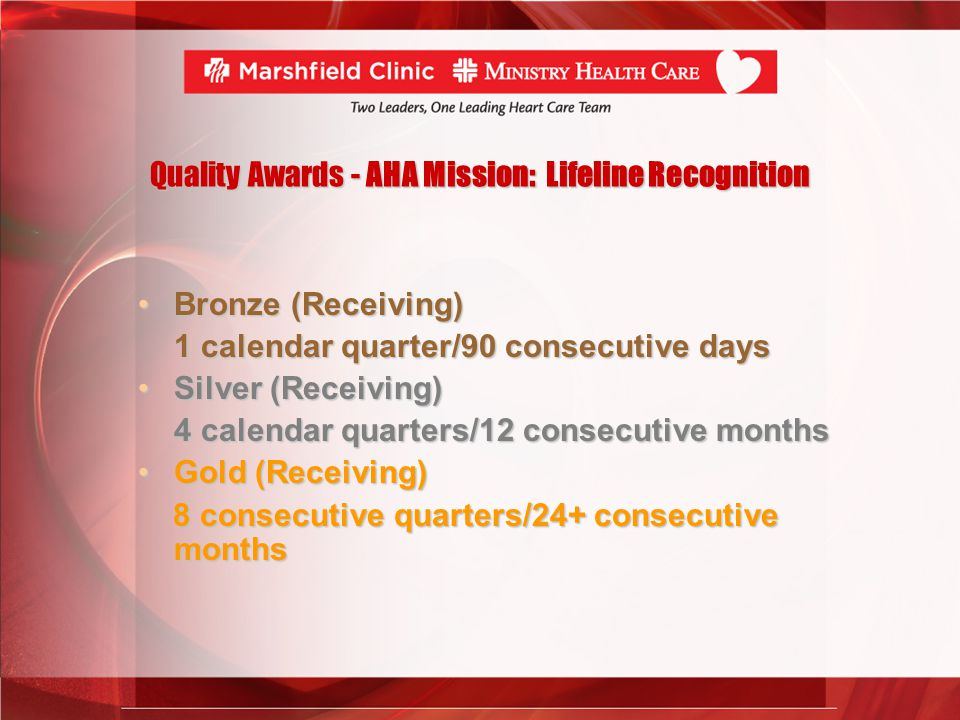 Quality Awards - AHA Mission: Lifeline Recognition