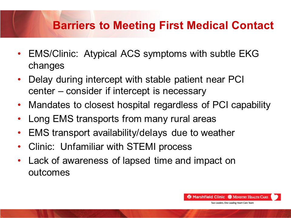 Barriers to Meeting First Medical Contact