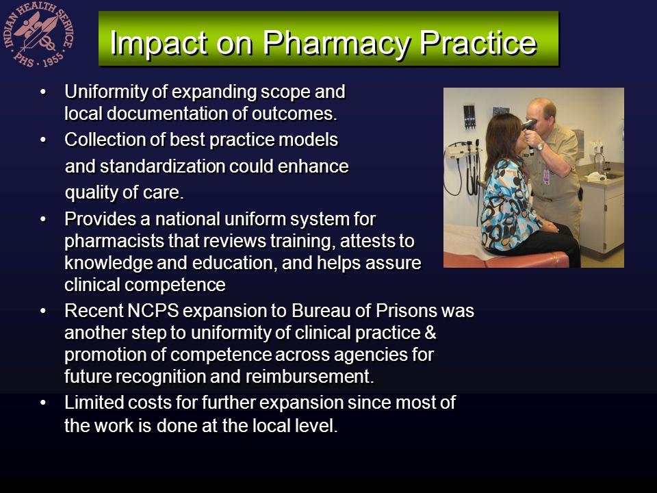 Impact on Pharmacy Practice