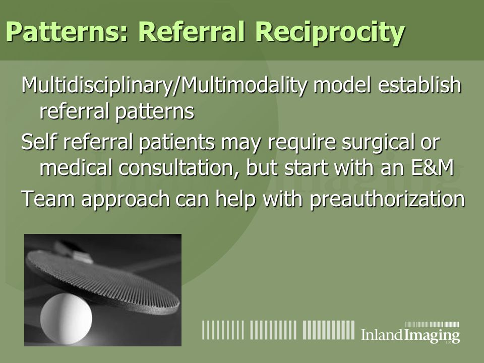 Patterns: Referral Reciprocity