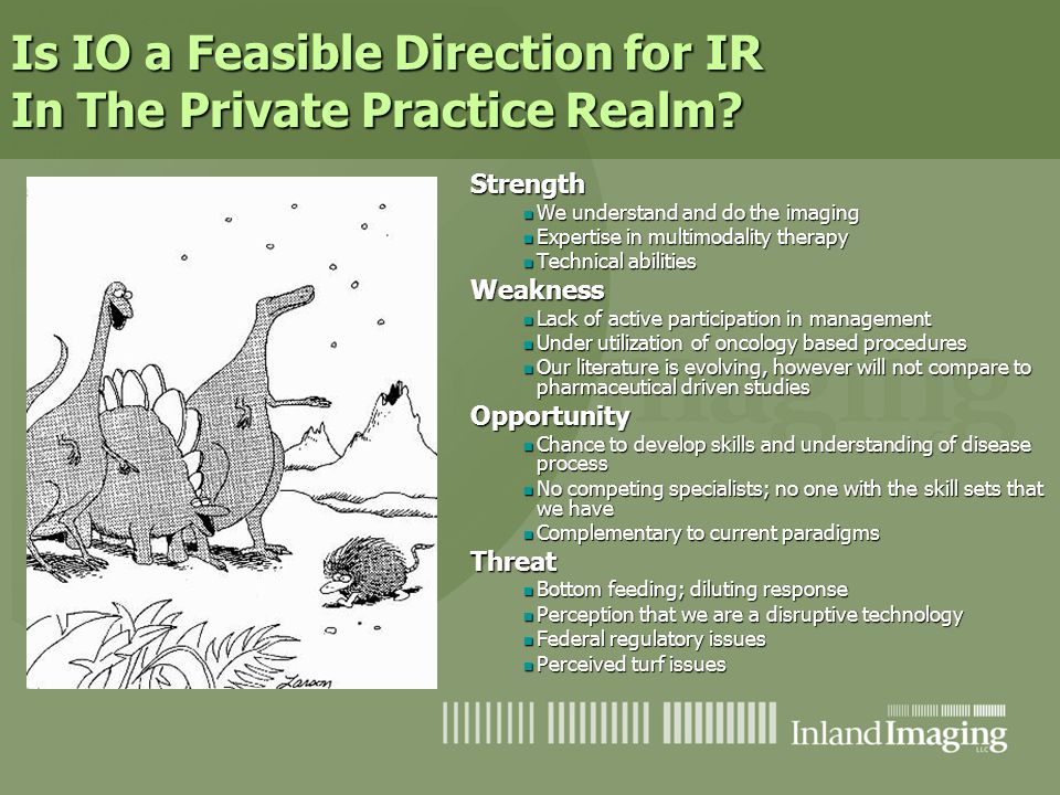 Is IO a Feasible Direction for IR In The Private Practice Realm