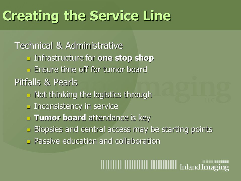 Creating the Service Line