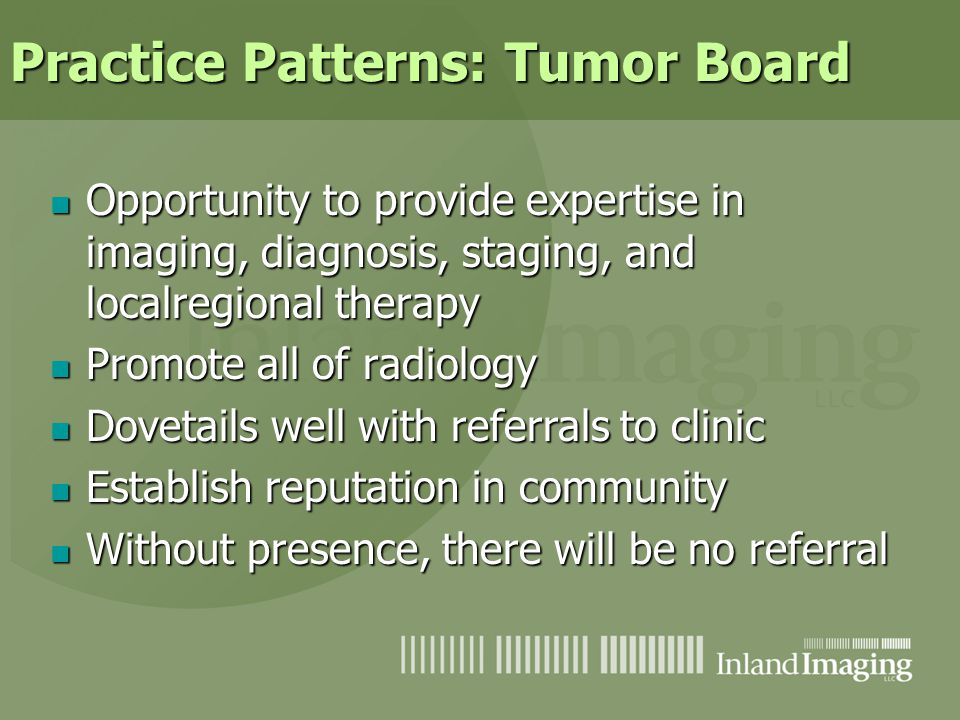 Practice Patterns: Tumor Board