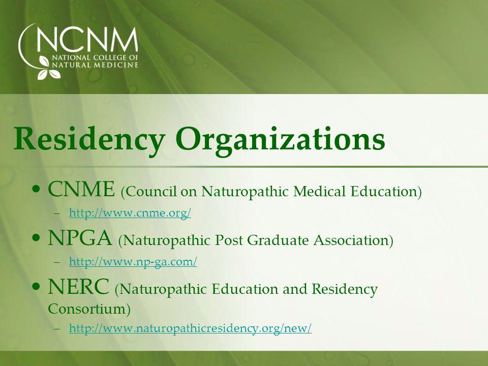 Residency Organizations