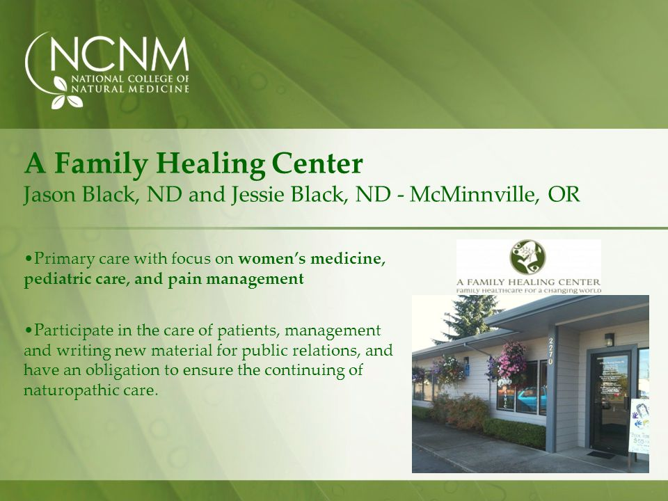 A Family Healing Center Jason Black, ND and Jessie Black, ND - McMinnville, OR