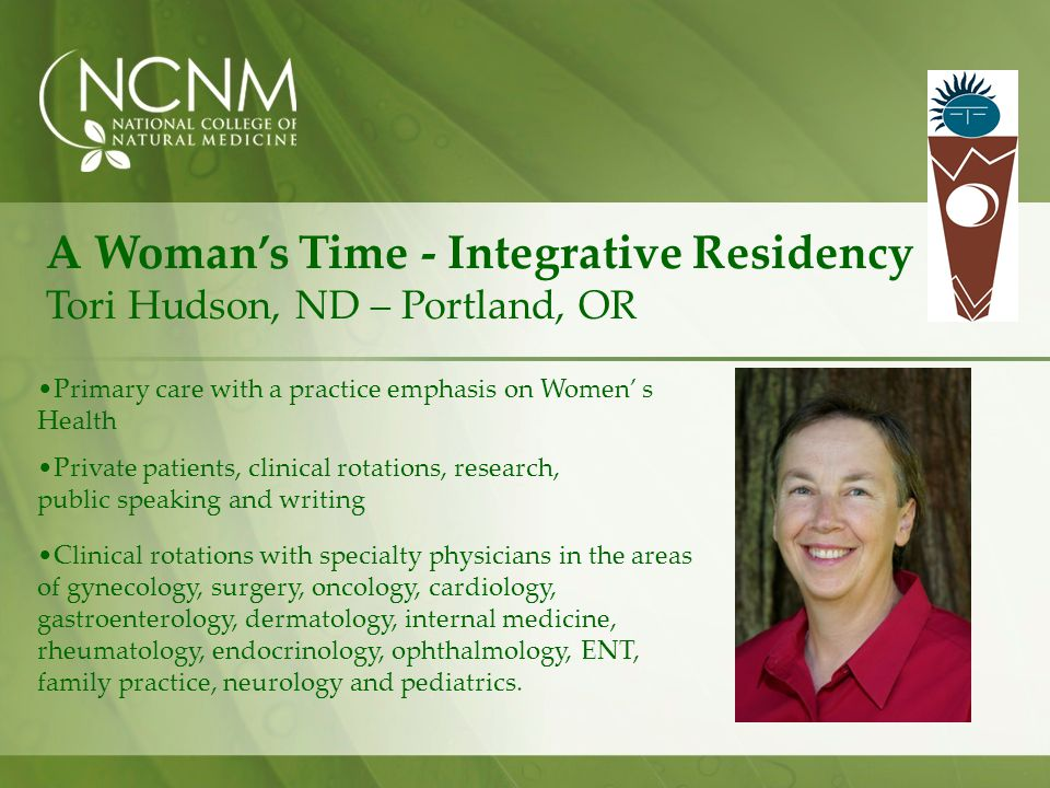 A Woman's Time - Integrative Residency