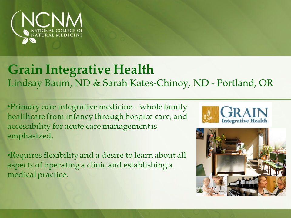 Grain Integrative Health Lindsay Baum, ND & Sarah Kates-Chinoy, ND - Portland, OR