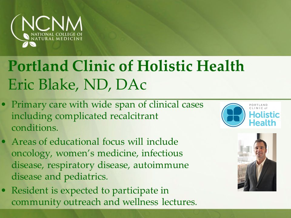 Portland Clinic of Holistic Health Eric Blake, ND, DAc