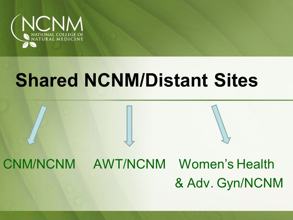 Shared NCNM/Distant Sites