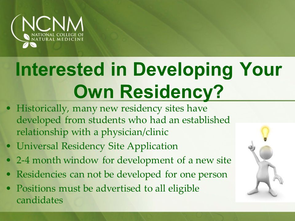Interested in Developing Your Own Residency