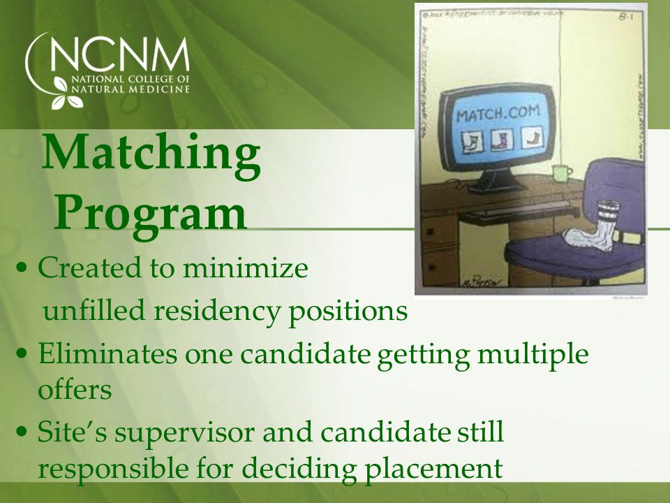 Matching Program Created to minimize unfilled residency positions