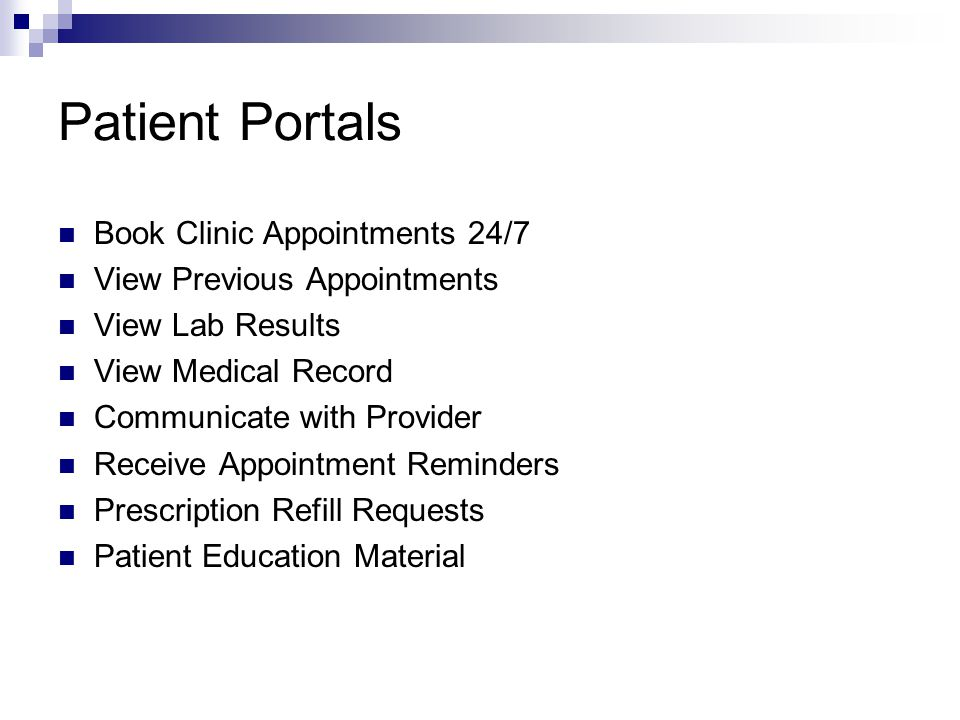 Patient Portals Book Clinic Appointments 24/7