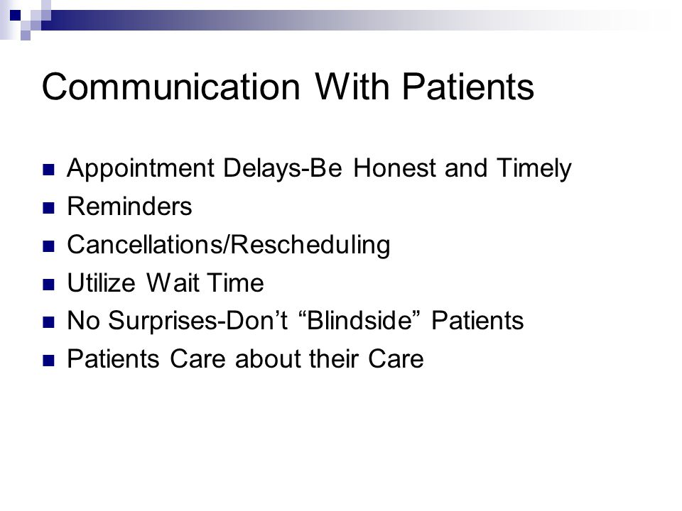 Communication With Patients