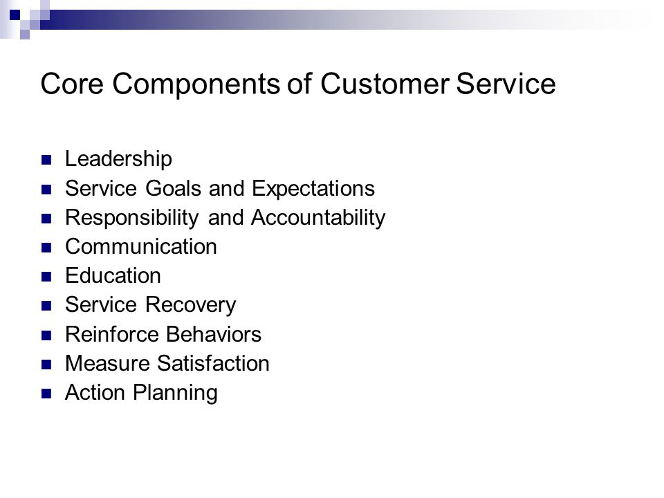 Core Components of Customer Service