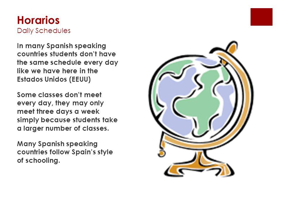 Horarios Daily Schedules