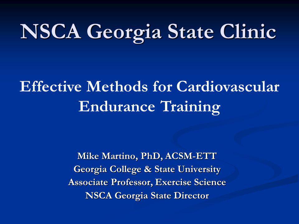 NSCA Georgia State Clinic