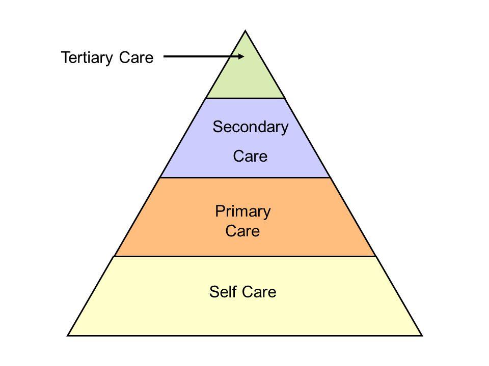Tertiary Care Secondary Care Primary Care Self Care