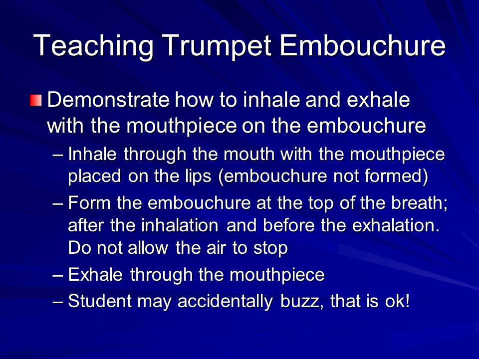 Teaching Trumpet Embouchure