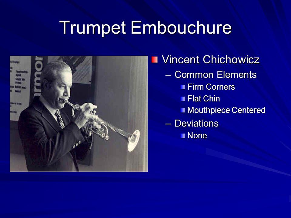 Trumpet Embouchure Vincent Chichowicz Common Elements Deviations