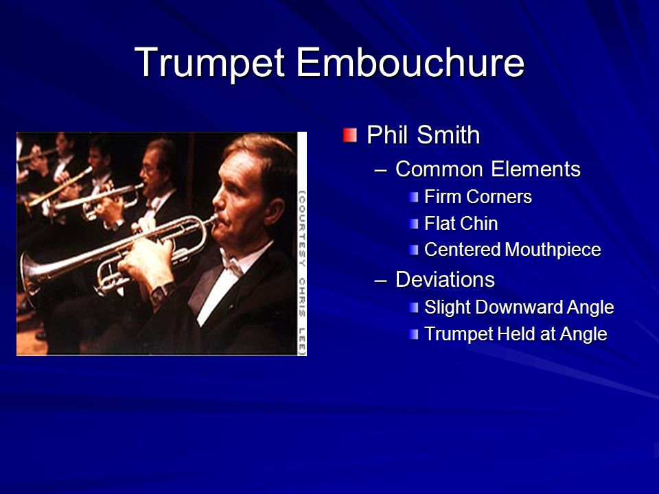 Trumpet Embouchure Phil Smith Common Elements Deviations Firm Corners