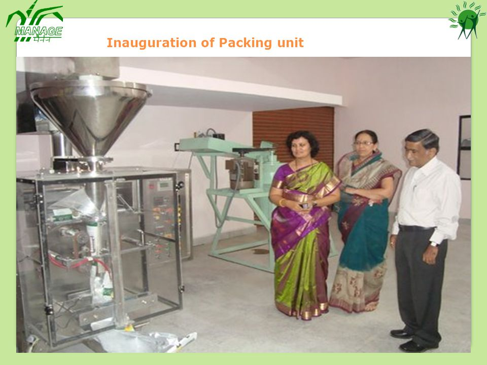 Inauguration of Packing unit