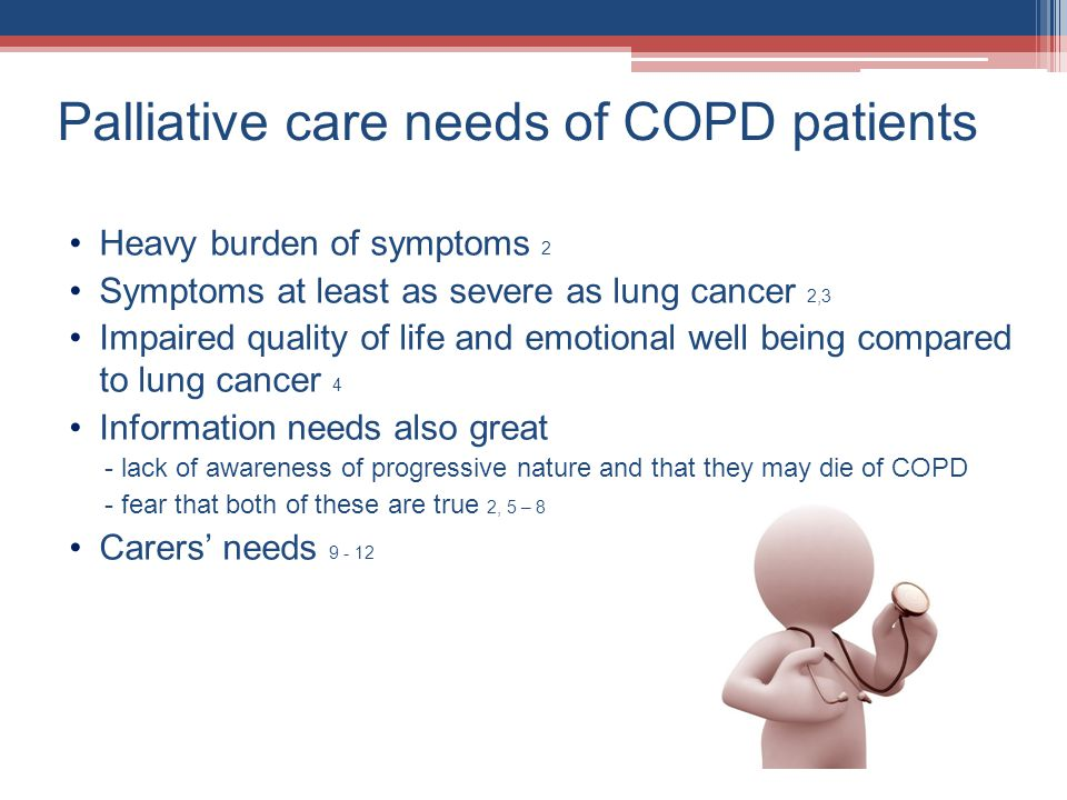 Palliative care needs of COPD patients