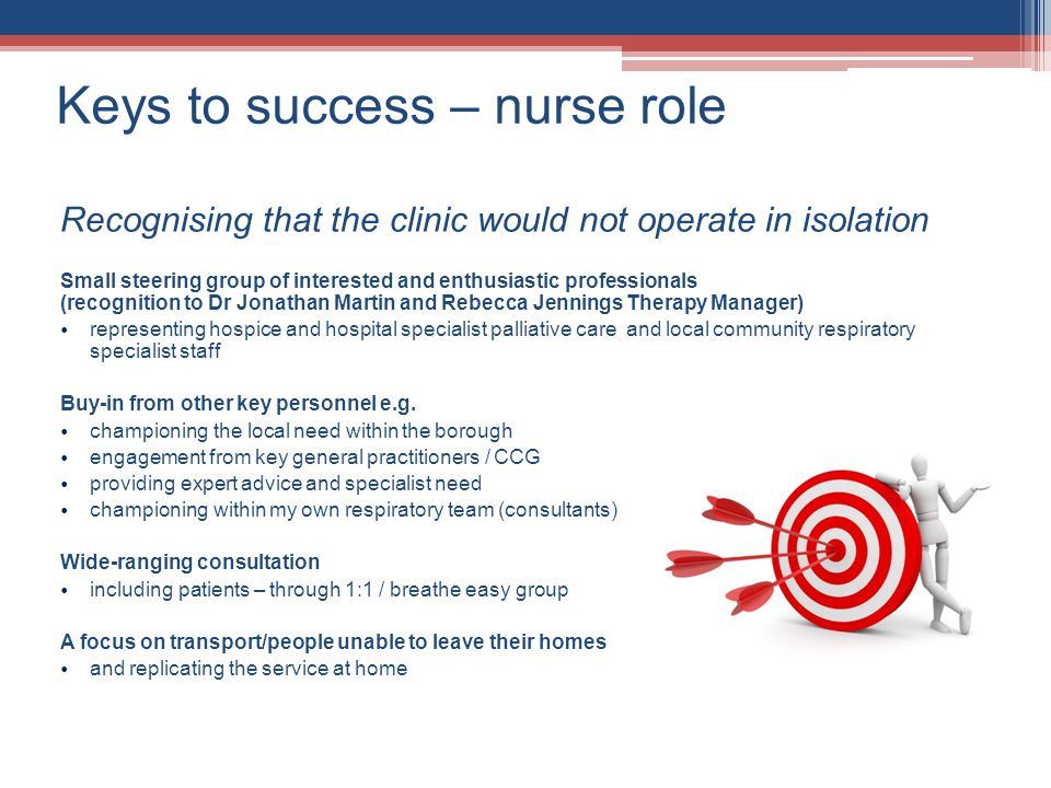 Keys to success – nurse role