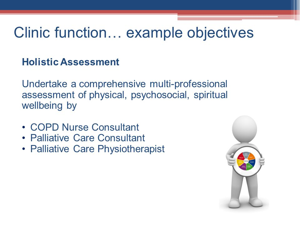 Clinic function… example objectives