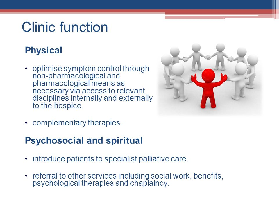 Clinic function Physical Psychosocial and spiritual