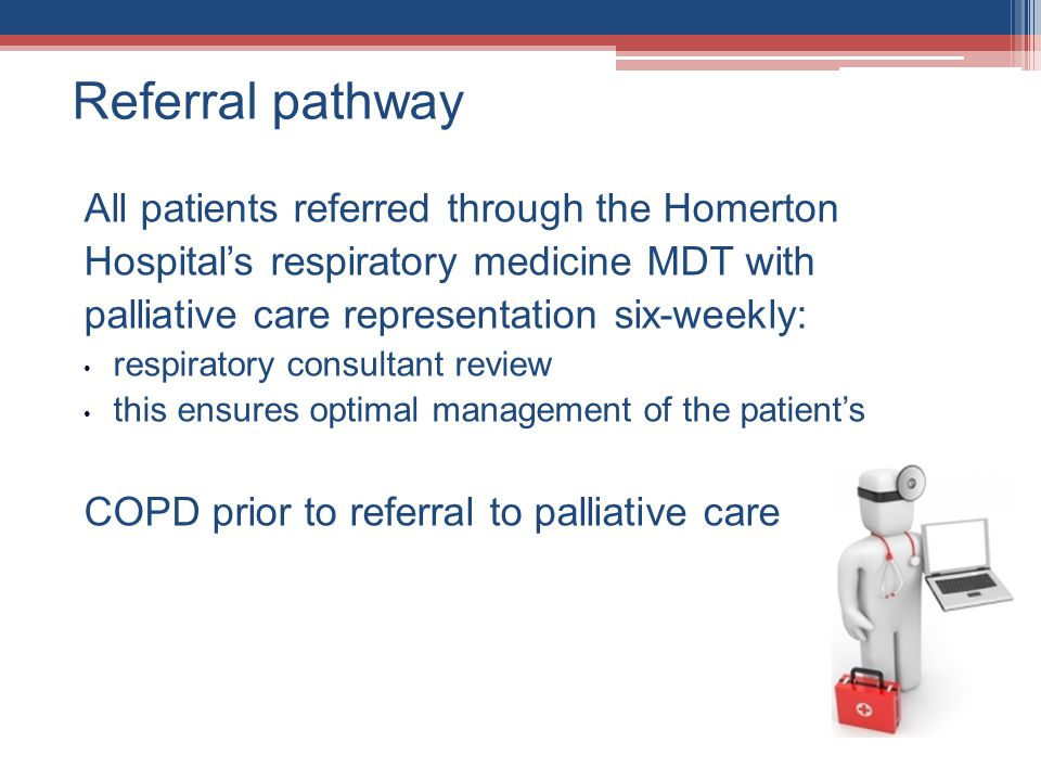 Referral pathway All patients referred through the Homerton