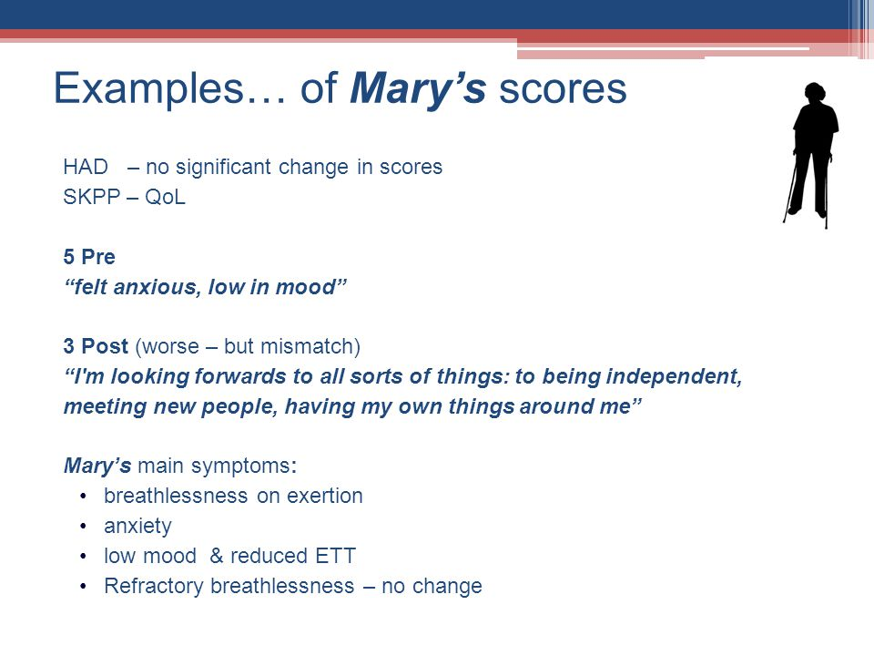 Examples… of Mary's scores