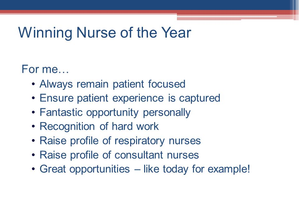 Winning Nurse of the Year