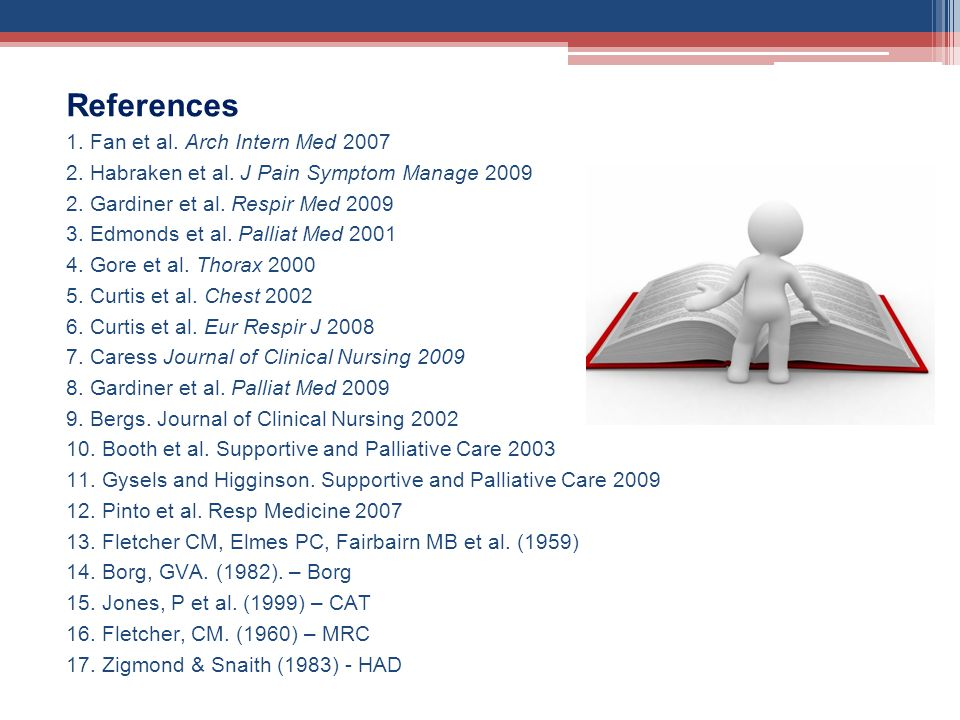 References 1. Fan et al. Arch Intern Med 2007