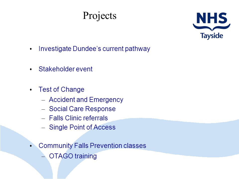 Projects Investigate Dundee's current pathway Stakeholder event